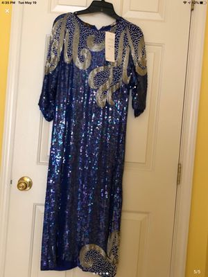 Medium size blue sequenced dress for Sale in Germantown, MD