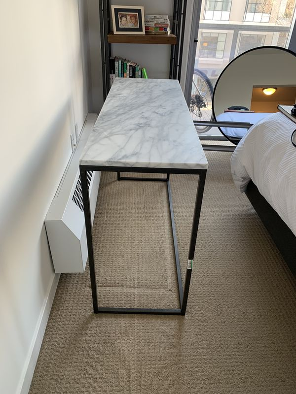 Crate&Barrel Marble Console/Entry Table