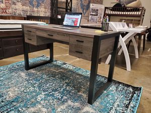 Office Computer Desk, Distressed Grey and Black, SKU 171967 for Sale in Fountain Valley, CA