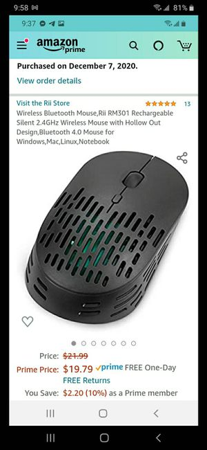 Rechargeable wireless mouse for Sale in Modesto, CA