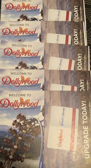 5 DOLLYWOOD TICKETS..GOOD TILL JANUARY for Sale in Greeneville, TN