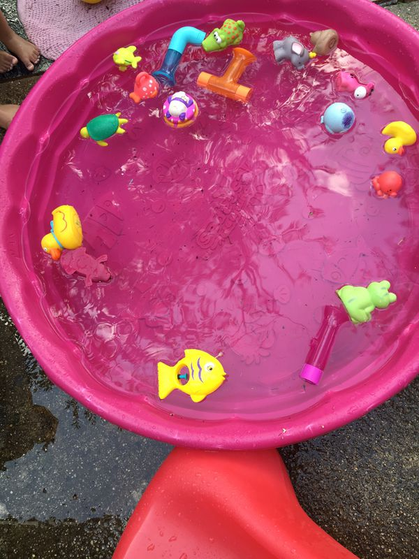 Small pool with toys