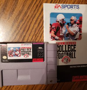 Super Nintendo Bill Walsh College Football for Sale in Mt. Juliet, TN