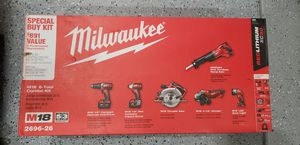 MILWAUKEE 2696-26 COMBO 6 TOOL KIT for Sale in Aurora, CO