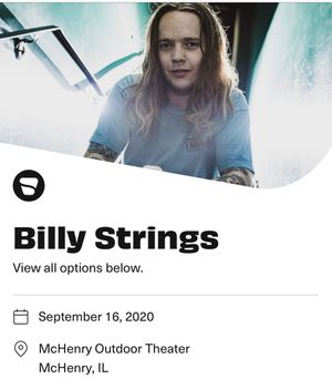 Billy Strings Live at the Drive Inn Concert Tickets!🔥 for Sale in Addison, IL