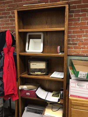 """2 bookshelves. 83"""" tall. 42"""" wide. 12"""" deep. Like new condition. Call Dave at {contact info removed}. for Sale in Seattle, WA"""