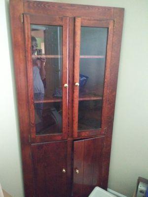 Corner Pine Antique Cabinet for Sale in Eastman, GA