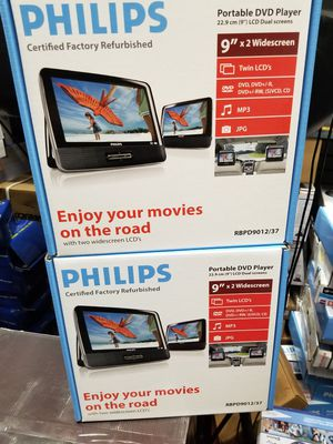 """DOUBLE SET 9"""" SCREEN PORTABLE DVD PLAYER BY PHILLIPS. BRAND NEW for Sale in Los Angeles, CA"""