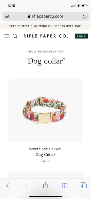 Rifle paper co dog collar for Sale in Holly Springs, NC