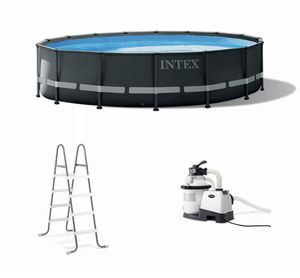Intex 26325EH 16Ft x 48In Ultra XTR Frame Above Ground Swimming Pool Set w/ Pump for Sale in Eldersburg, MD