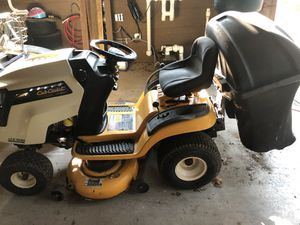 Cub cadet riding mower with bagging system for Sale in Keller, TX