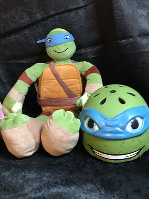 Teenage mutant ninja turtles 25 inch stuffed plush doll with bicycle helmet! for Sale in Savannah, GA