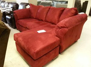 Brand New by Ashley Red Salsa Sofa Chaise for Sale in Houston, TX