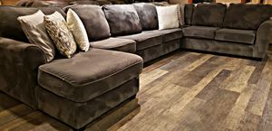 Extremely Large Gray Champion Microfiber Wraparound Sectional for Sale in Bow, WA