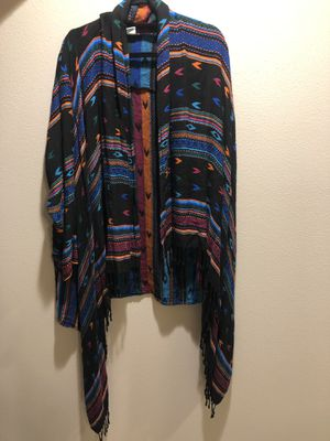 Long Sleeve Tribal Nostalgia Shawl | Size: 2X for Sale in Renton, WA