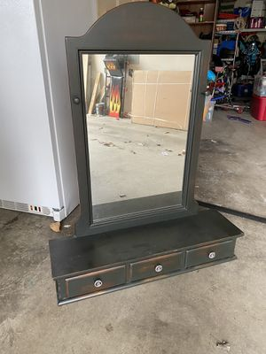 Wall mirror with hanging knobs and drawers for Sale in Sumner, WA