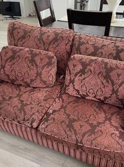 Red And Brown Couch Set for Sale in North Olmsted,  OH