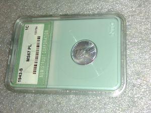1943 S steel penny. MS67 Proof Like. for Sale in Carrollton, TX
