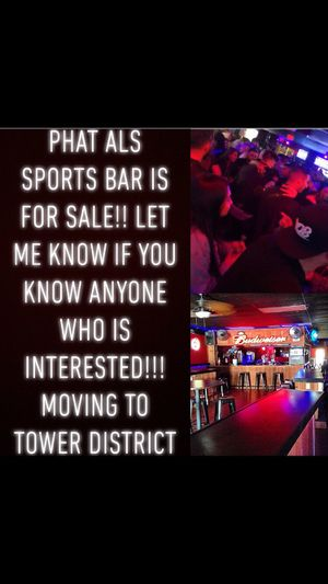 PHAT ALS SPORTS BAR FOR SALE for Sale in Sanger, CA