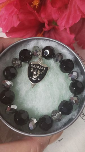 RAIDERS MEN'S STRETCHABLE BRACELET WITH CHARM for Sale in Stockton, CA