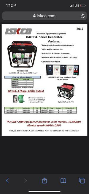 ISKO HAG134 generator for Sale in Sacramento, CA