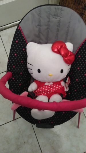 HELLO KITTY LIL GIRLS BOUNCER and PLUSH DOLL*** for Sale in Decatur, GA