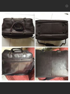 Brown Leather Travel Duffle Bag for Sale in South Miami, FL