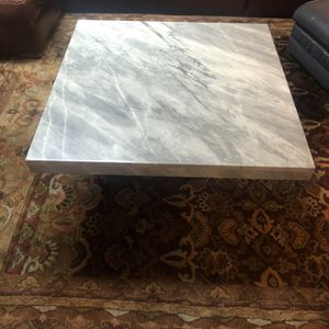 REAL Marble Coffee table and 2 side tables (3 tables total) for Sale in Prospect Heights, IL