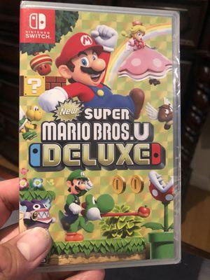 Super Mario.U DELUXE for Nintendo Switch 50$$$ brand new sealed for Sale in Chula Vista, CA
