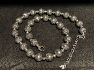 """American West Sterling Silver .925 Oxidized Stamped Bead 21"""" Necklace Southwest New for Sale in Los Angeles, CA"""