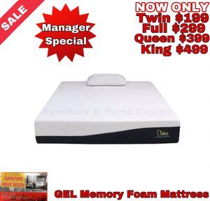 Gel Memory Foam Mattress for Sale in Tulare, CA