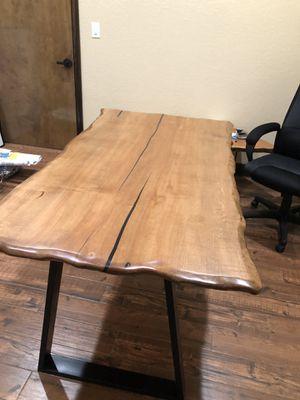 Custom Made Office Desk (Matte Black Obtuse Legs) for Sale in Canyon Lake, TX