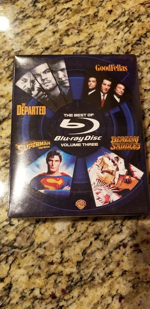 4 Blu-Ray box set - Departed, Goodfellas, Superman, Blazing Saddles for Sale in Downers Grove, IL
