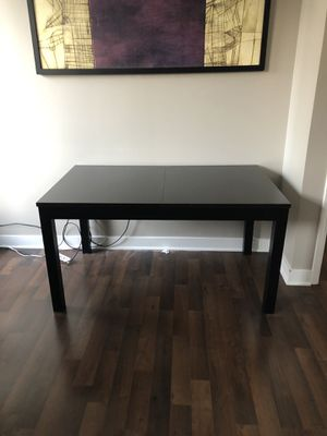 IKEA Black Extendable Dining Table for Sale in Chicago, IL