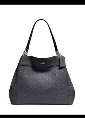 Coach Lexy Shoulder Bag In Signature Leather Midnight Blue F25954 Condition: Like new. Only used twice for a photo shoot. Sell for almost $300 in t for Sale in Corona, CA