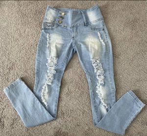 Women's Girls Kids Brazilian Distress High-Rise Jeans Shinny Pants for Sale in Chapel Hill, NC