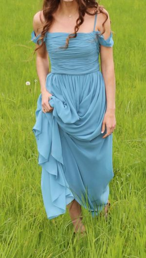 Long Blue formal prom dress. Worn once. for Sale in Gaston, OR