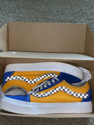 Blue and Orange checkered Vans for Sale in Lithonia, GA