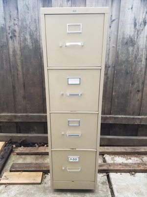 File Cabinet - 4 Drawer, Letter Size, HON Brand for Sale in Martinez, CA