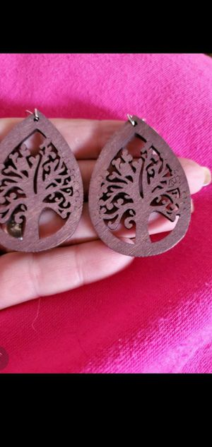 Ultralight weight handmade one of a kind wooden tree of life earrings NEW for Sale in Round Rock, TX