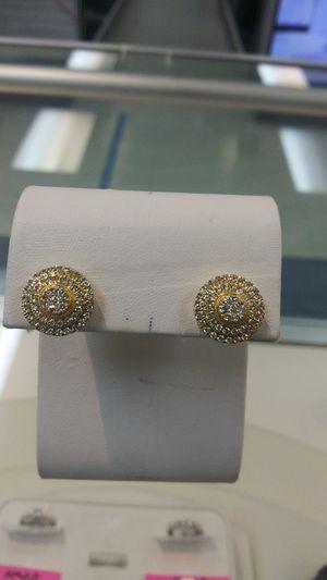 Gold/Diamond Stud Earrings(10k) for Sale in Houston, TX