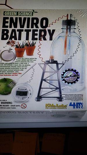 Enviro Battery- Green Science Kit -New for Sale in Falls Church, VA