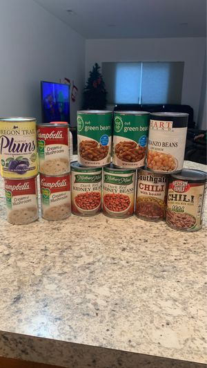 Free canned goods for Sale in Pasco, WA