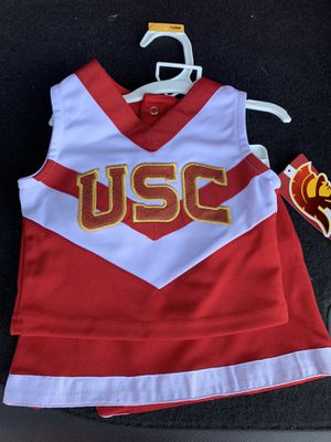Cheerleader USC College Girls Toddler Outfit Shirt & Skirt Size 12 months for Sale in Whittier, CA