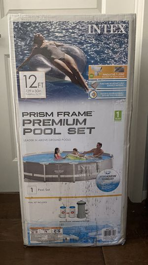 Intex 12x30 Pool Set Complete New for Sale in San Bruno, CA
