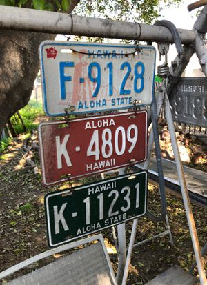 Hawaii license plates, set of three plates for Sale in US