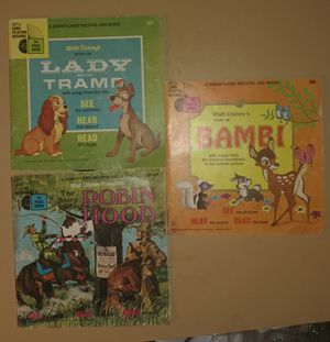 Lot of 3 Walt Disney Books with Record for Sale in Traverse City, MI