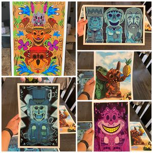 Disney Tiki Print Set (Five 11x17 prints) for Sale in Peoria, AZ