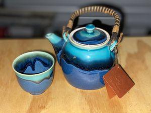 Blue Teavana Teapot + 1 Matching Mug for Sale in Virginia Beach, VA