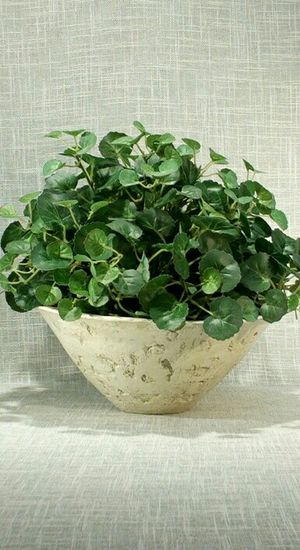 """Stone Textured Vase with Artificial Plant 12""""x10"""" *PICKUP ONLY* home decor, household, flowers for Sale in Mesa, AZ"""